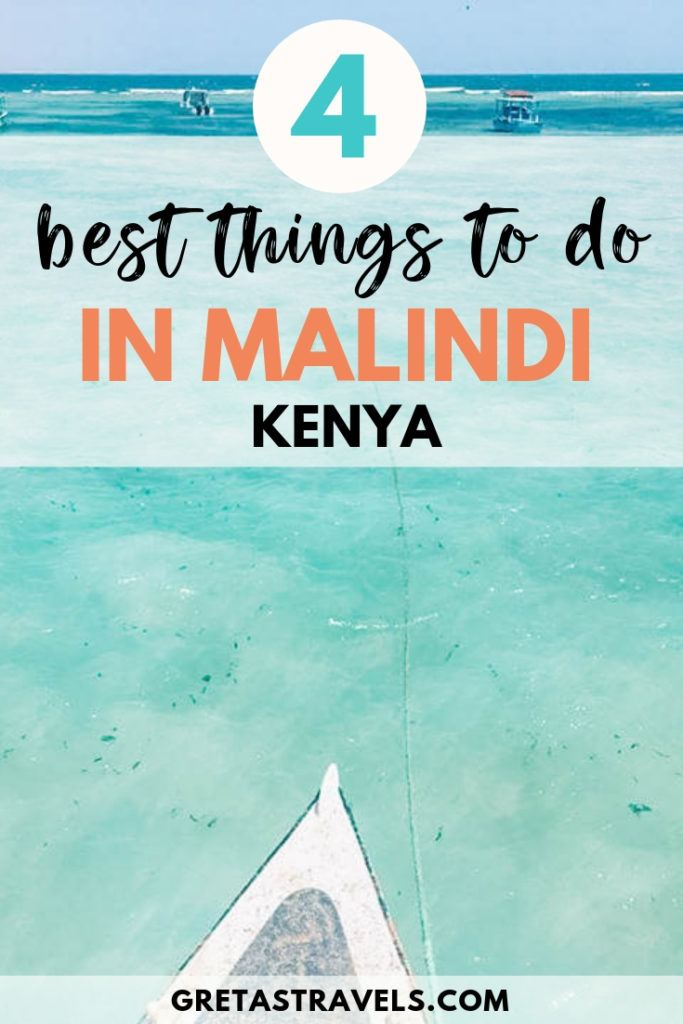 When you think of Kenya you think of safaris in the savannah, you don't think of white sandy beaches and crystal clear water. And yet this is what I found in Malindi, plus some beautiful marine parks with coral reefs to go scuba diving. If you're headed to Malinda check out this ultimate guide to discover all the best things to do in Malindi, Kenya! #kenya #africa #malindi #beach #traveltips #kenyatraveladvice