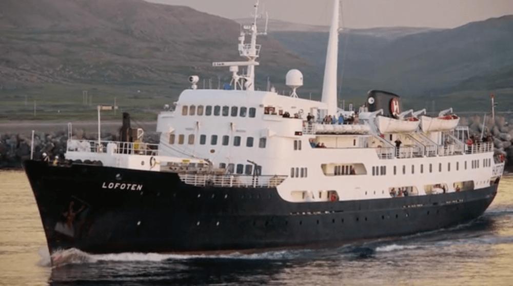 One of the Hurtigruten cruise and cargo boats