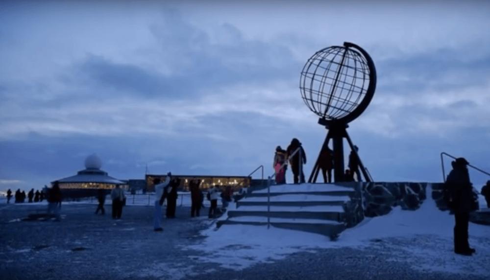 The metal globe of Cape North