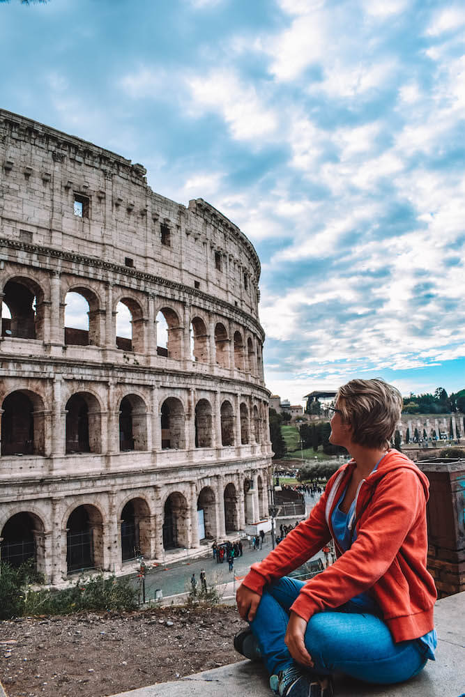 Enjoying the beauty of the Colosseum in Rome, Italy