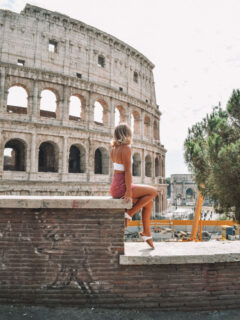 Chilling by the Colosseum in Rome