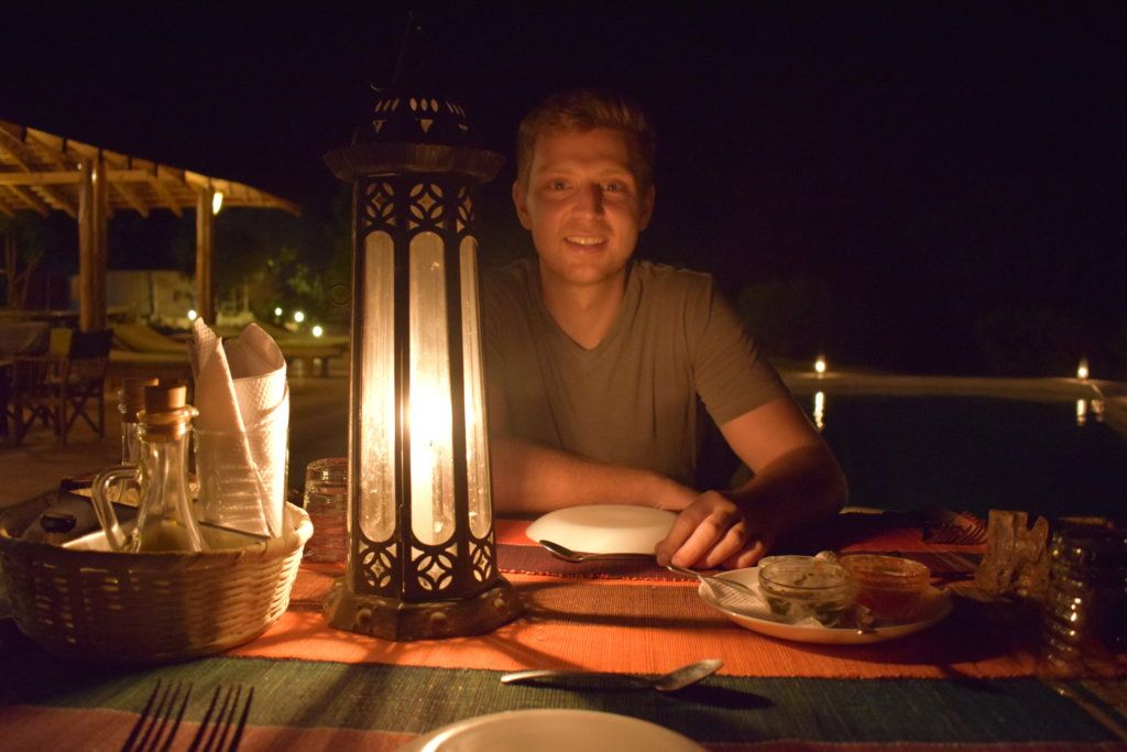 Dinner for two under the stars