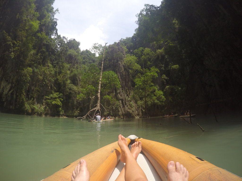 Kayaking in hidden lagoons in Phang Nga Bay