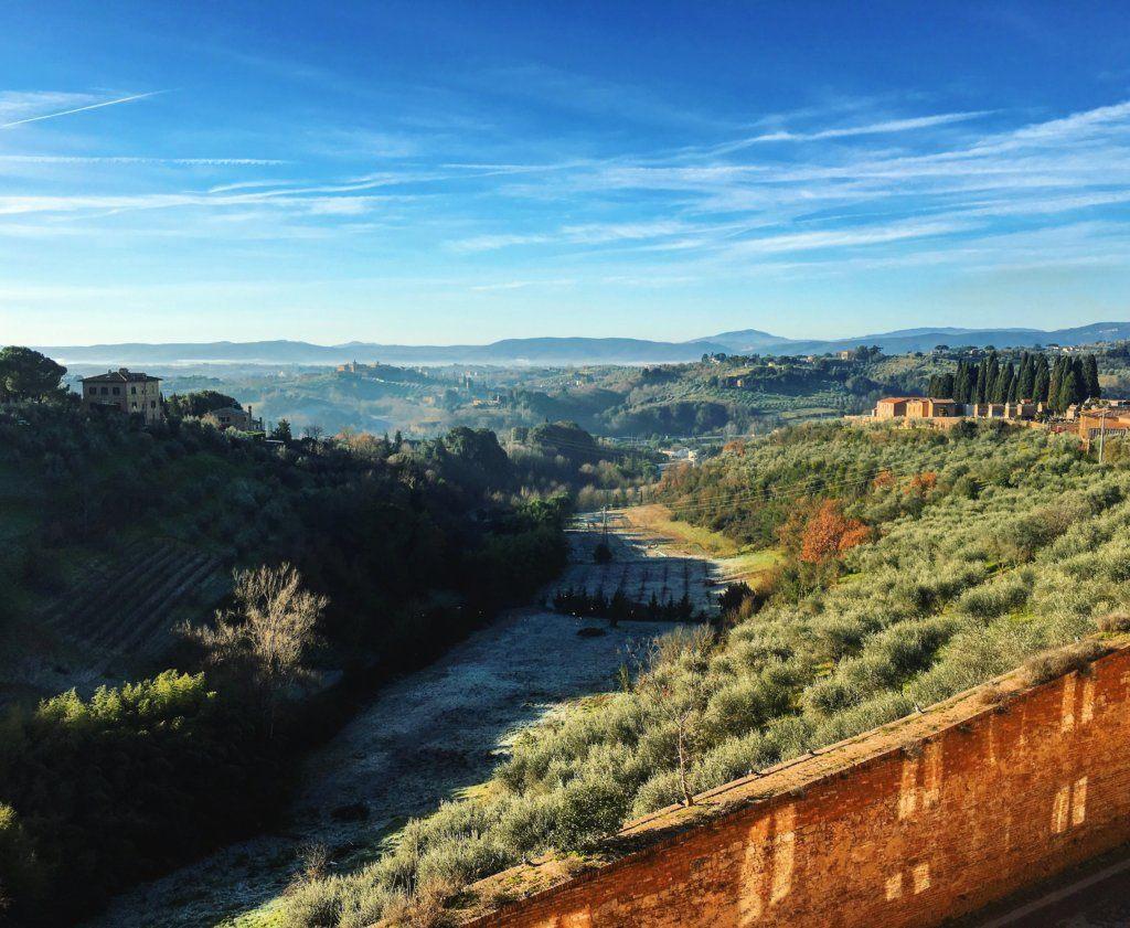 Vaizdas į Toskanos kraštovaizdį