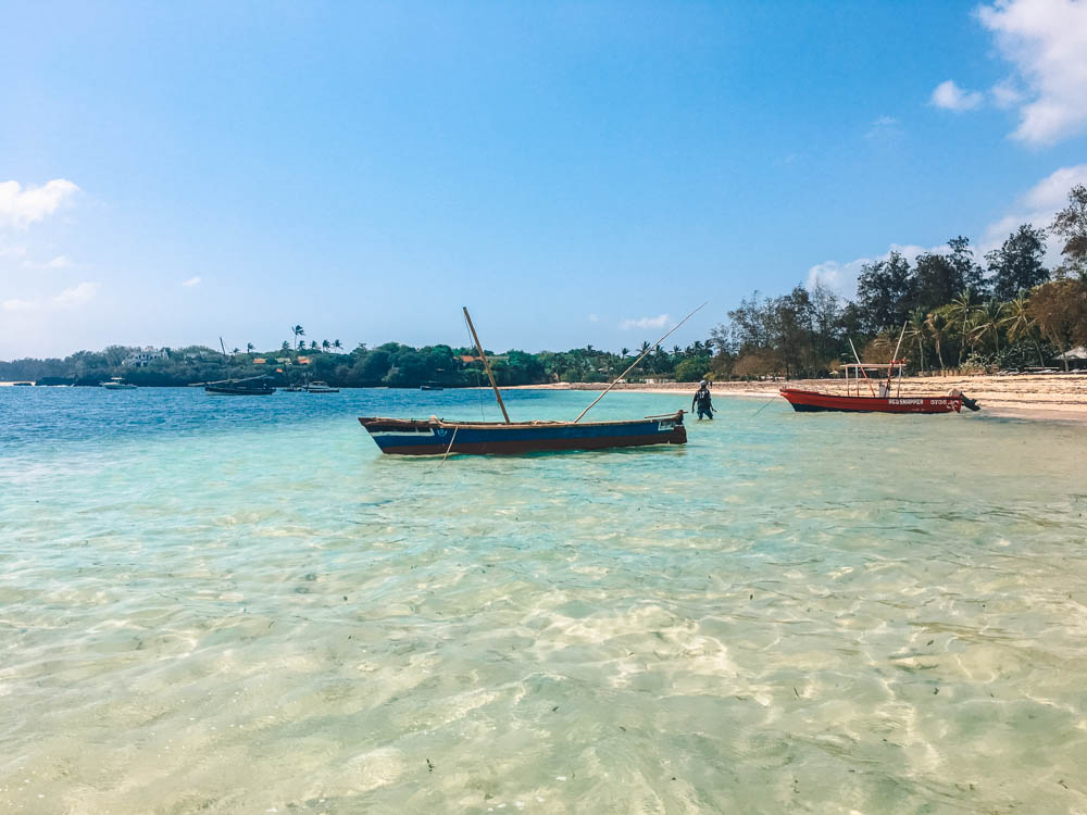 One of the beautiful beaches in Malindi, Kenya