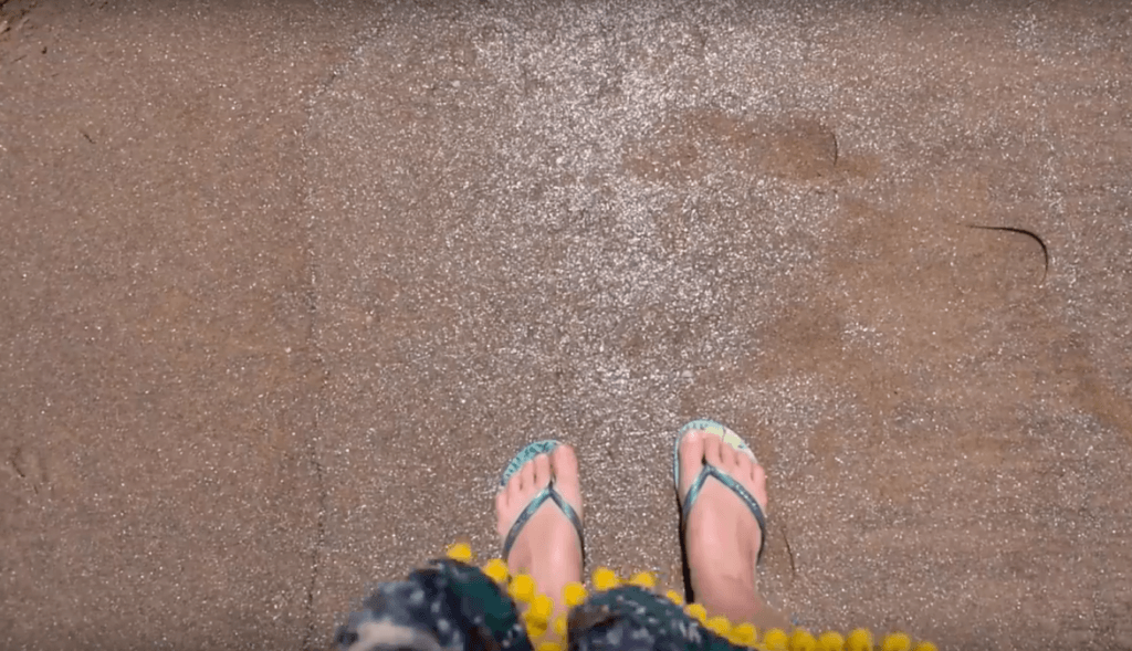 The glittery sand of the Golden Beach of Malindi
