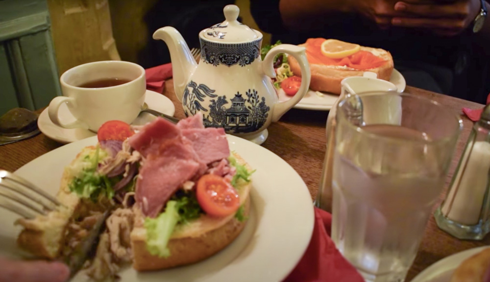 Some of the famous buns of Sally Lunn in Bath