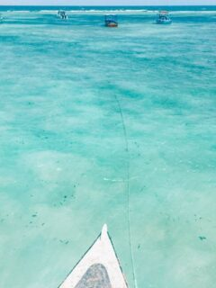 The beautiful turquoise water of Malindi
