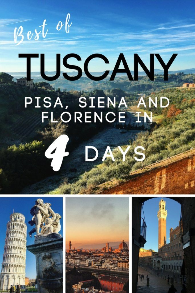 Tuscany is one of the most beautiful regions in Italy. If you're planning a trip there, but don't have much time to visit, you'll want to check out this 4 day itinerary for top tips and key things to see.
