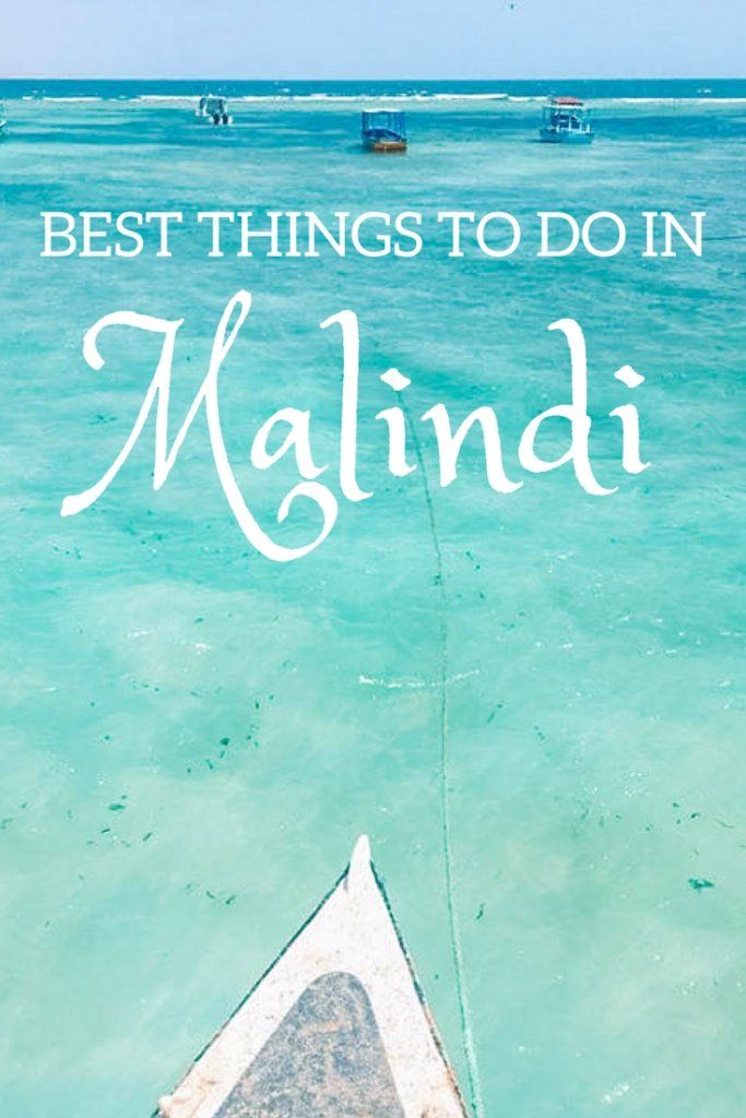 Discover the unknown side of Kenya; the white sand and crystal clear water beaches. In Malindi you can snorkel and scuba dive at three different coral reefs. Click here to find out more about the best things to do in Malindi, Kenya!