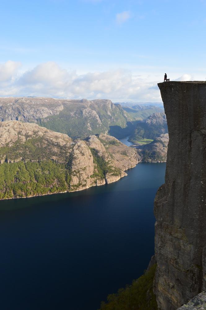 Enjoying the beautiful landscape of the Norwegian fjords - Photo by Dani James on Scopio