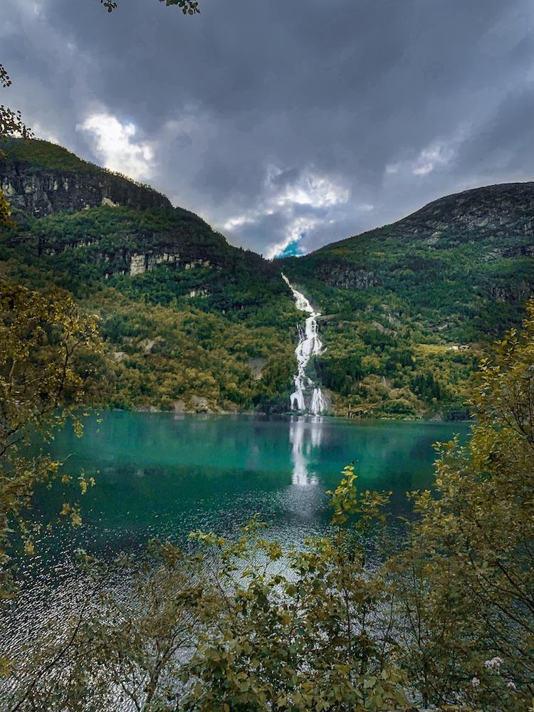 One of the beautiful waterfalls in the Norwegian fjords - Photo by Sumona Banerji on Scopio