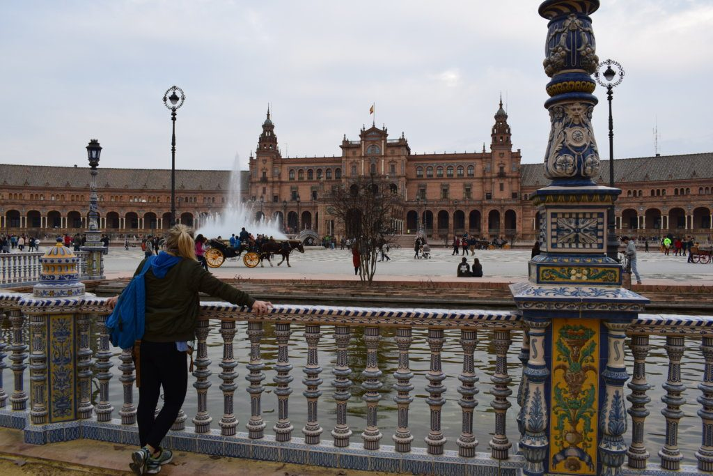 Exploring Plaza de Espana in Seville, Spain