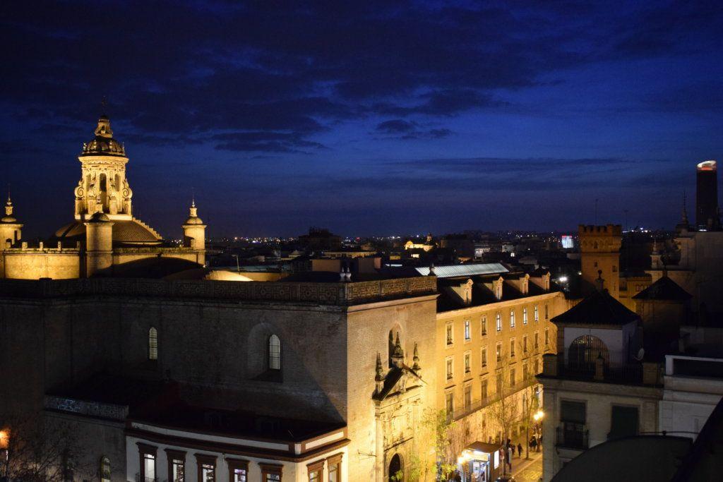 Evening lights over Seville