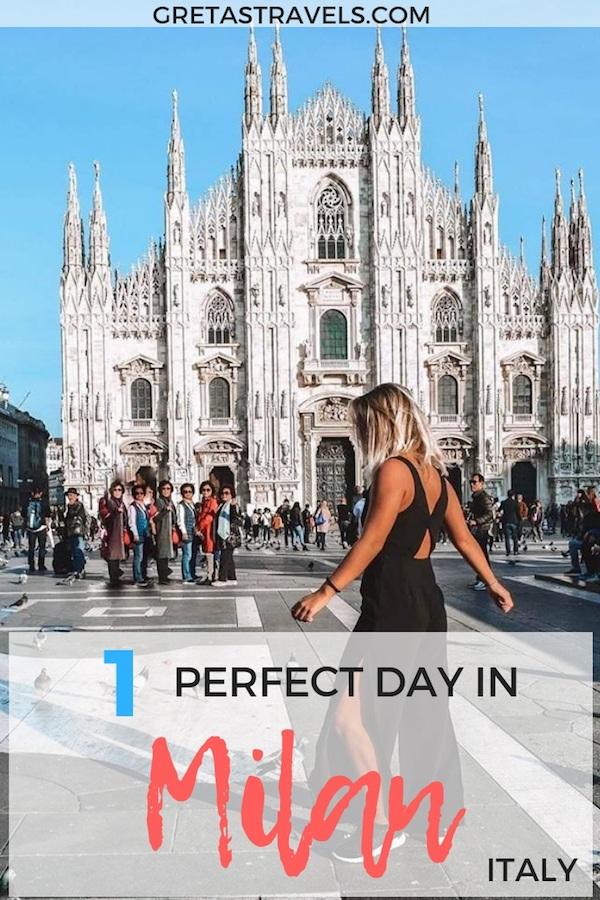 Milan is one of the most popular cities in Italy. Find out the best things to do, places to see and where to eat if you're only visiting Milan for one day. #milan #italy #traveladvice #milaninoneday
