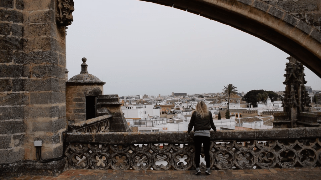 Overlooking Seville from the roof of the cathedral