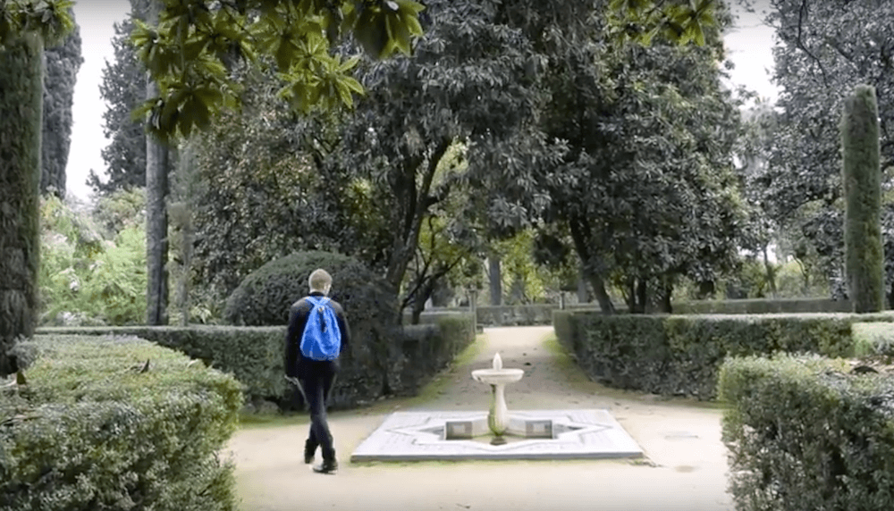 Wandering around the gardens of the Real Alcazar