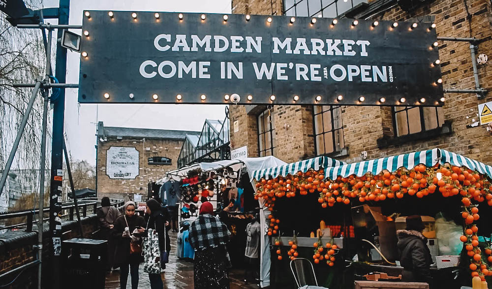 Camden Market in London, UK - one of the coolest areas to say in London