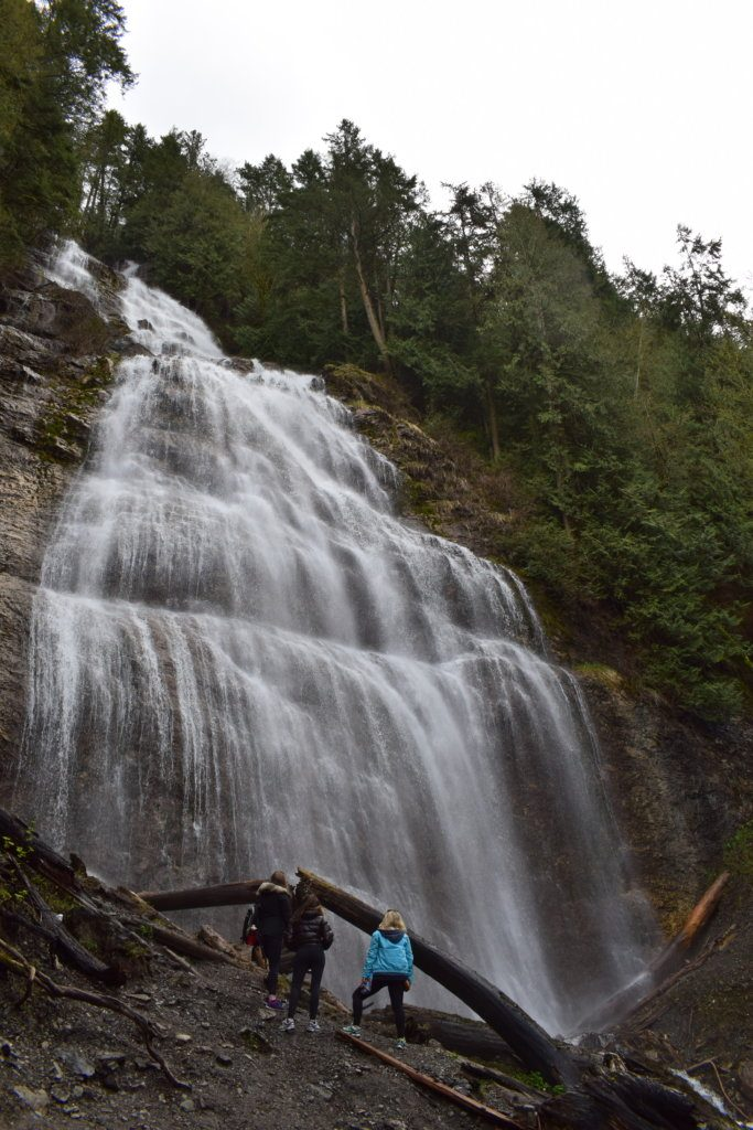 Getting up close to Bridal Veil Falls