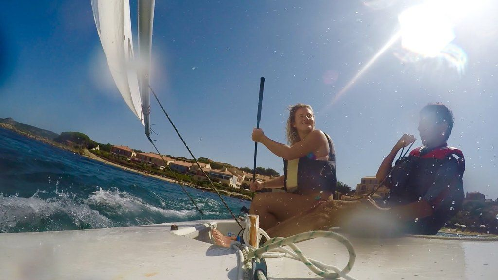 Sailing in Sardinia, Italy, shot on GoPro Hero 4 Silver