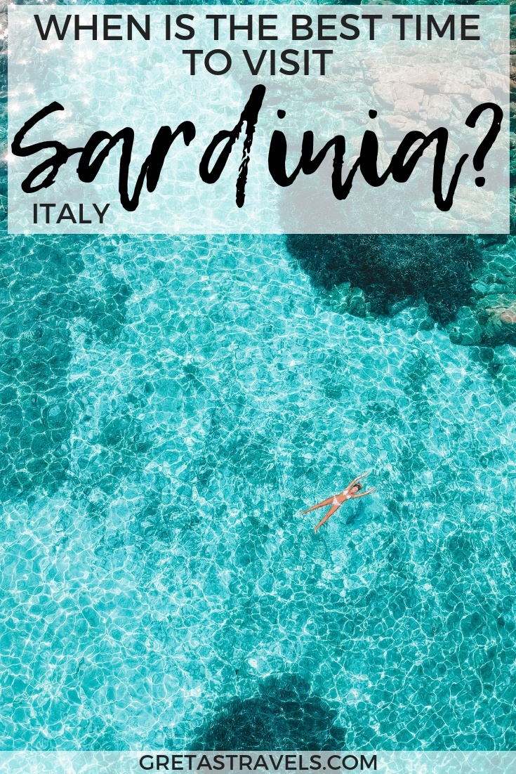 Planning a trip to Sardinia but not sure when to visit? This complete guide goes over the weather forecasts, services available and much more for every season to help you make a decision. Find out the best time to visit Sardinia in Italy with this post! #sardinia #italy #beachholiday #summer #winter #outofseason