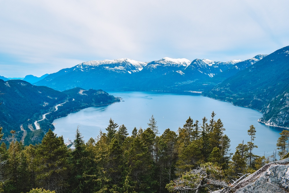 View over Howe Sound from Stawamus Chief