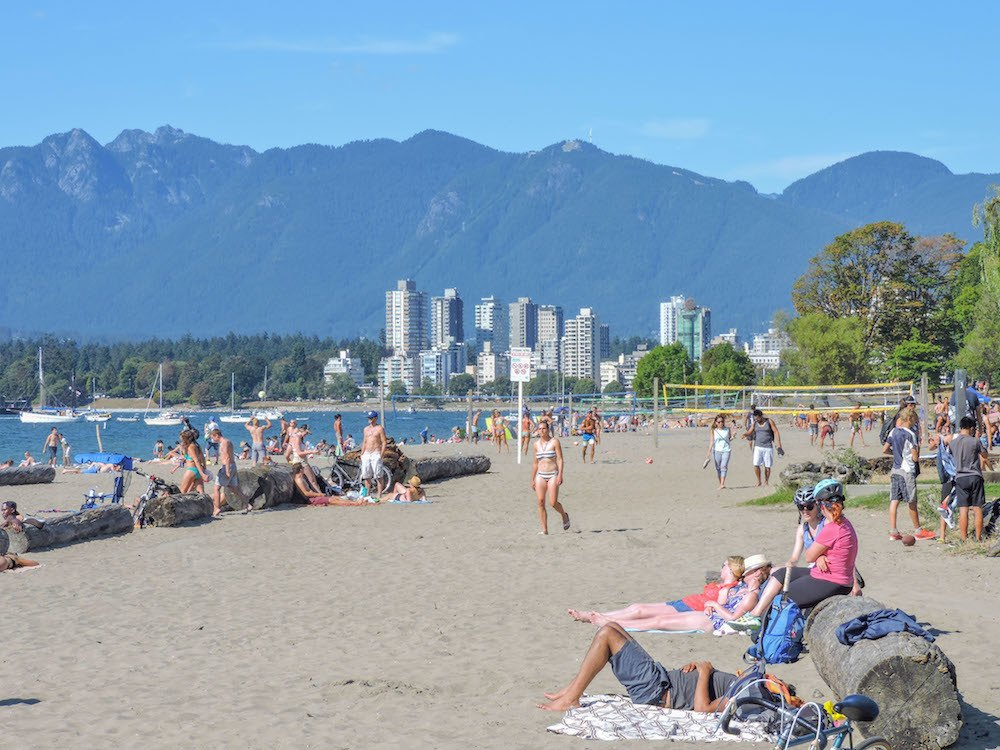 Kitsilano Beach Vancouver, photo by Two Scots Abroad