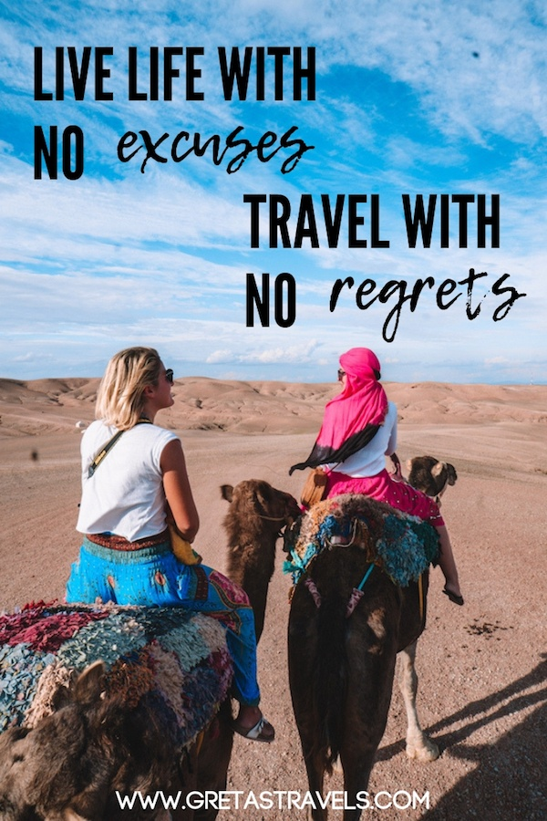 """Live life with no excuses, travel with no regrets"" Discover the 55 best travel quotes for travel inspiration #travelquotes #quotes #inspirationalquotes #travel #adventurequotes #quotesabouttravel"