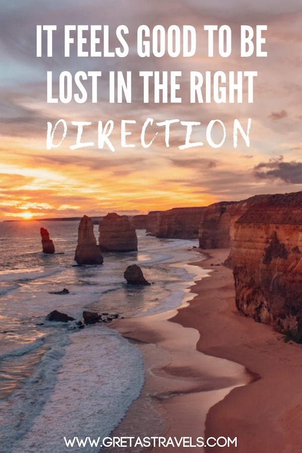 """It feels good to be lost in the right direction"" Discover the 55 best travel quotes for travel inspiration #travelquotes #quotes #inspirationalquotes #travel #adventurequotes #quotesabouttravel"
