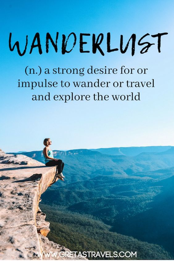 "Wanderlust definition: ""A strong desire of for impulse to wander or travel and explore the world"". Discover the 55 best travel quotes for travel inspiration #travelquotes #quotes #inspirationalquotes #travel #adventurequotes"