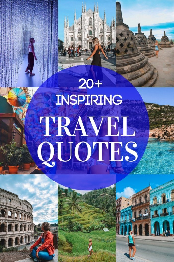 If you're looking for inspirational travel quotes you have just found them. Check out my compilation of top 20+ best travel quotes for travel inspiration, paired with scenic photo backdrops.