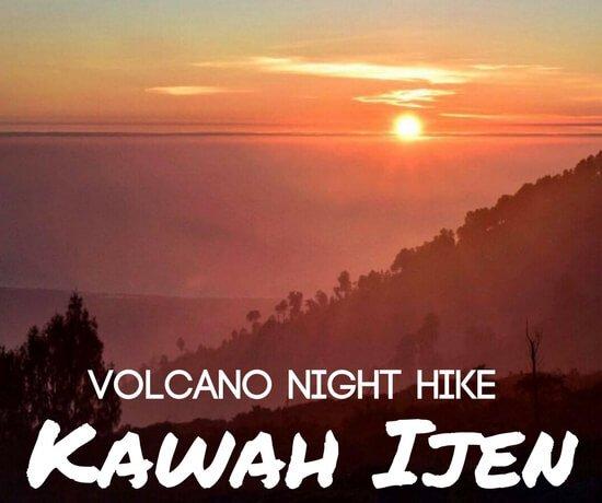 Hiking Kawah Ijen at night