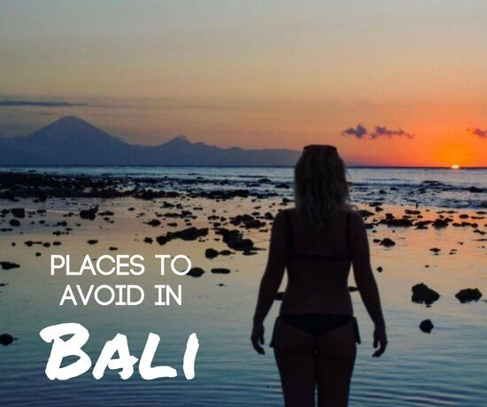 Places to avoid in Bali