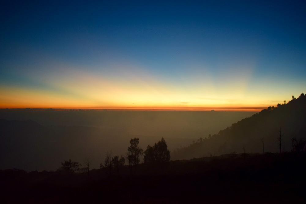 Waiting for the sunrise at Kawah Ijen