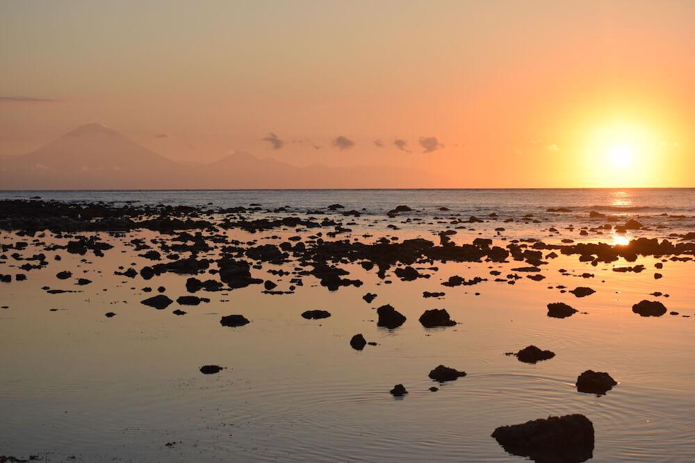 Beautiful sunsets along the beach