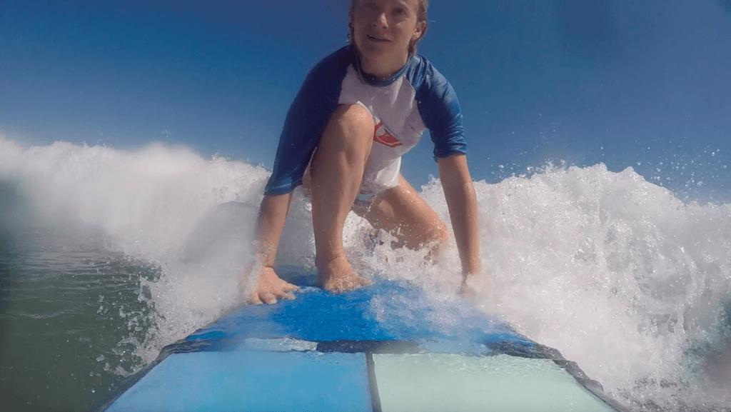 Surfing in Seminyak, Bali