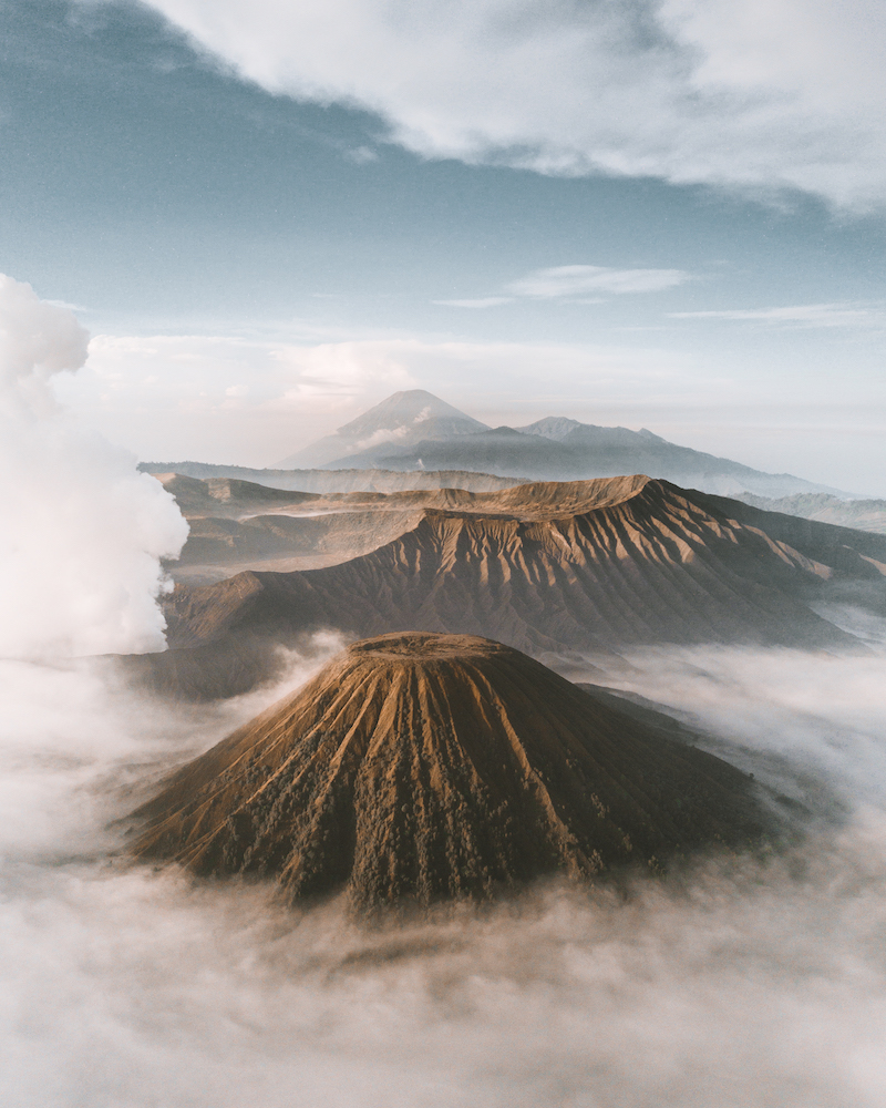 Aerial photo of Mount Bromo - Photo by Alexander Pflaum on Scopio