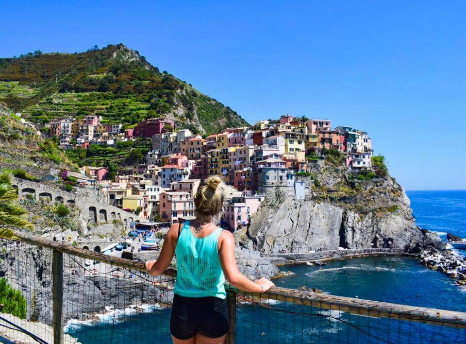 Enjoying the view over Manarola