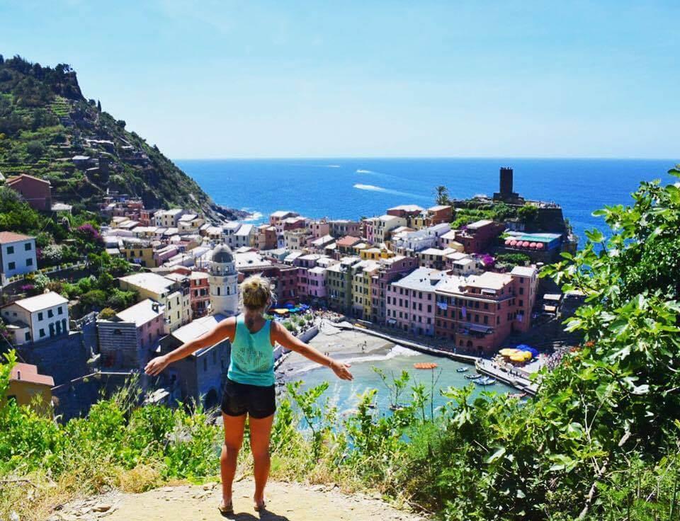 Overlooking Vernazza from the Sentiero Azzurro