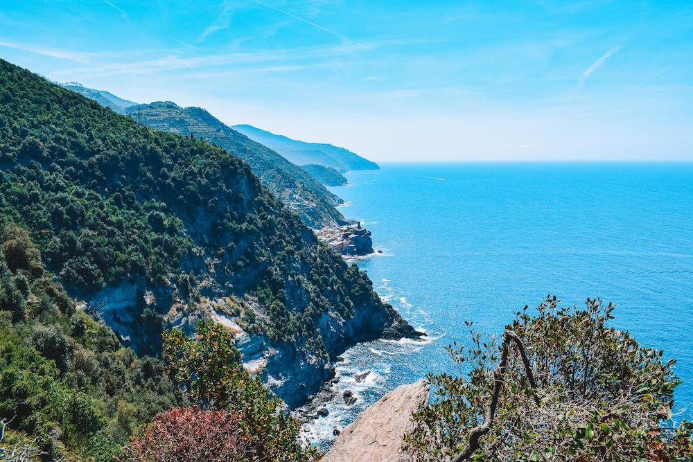 The coastline of Cinque Terre in Italy