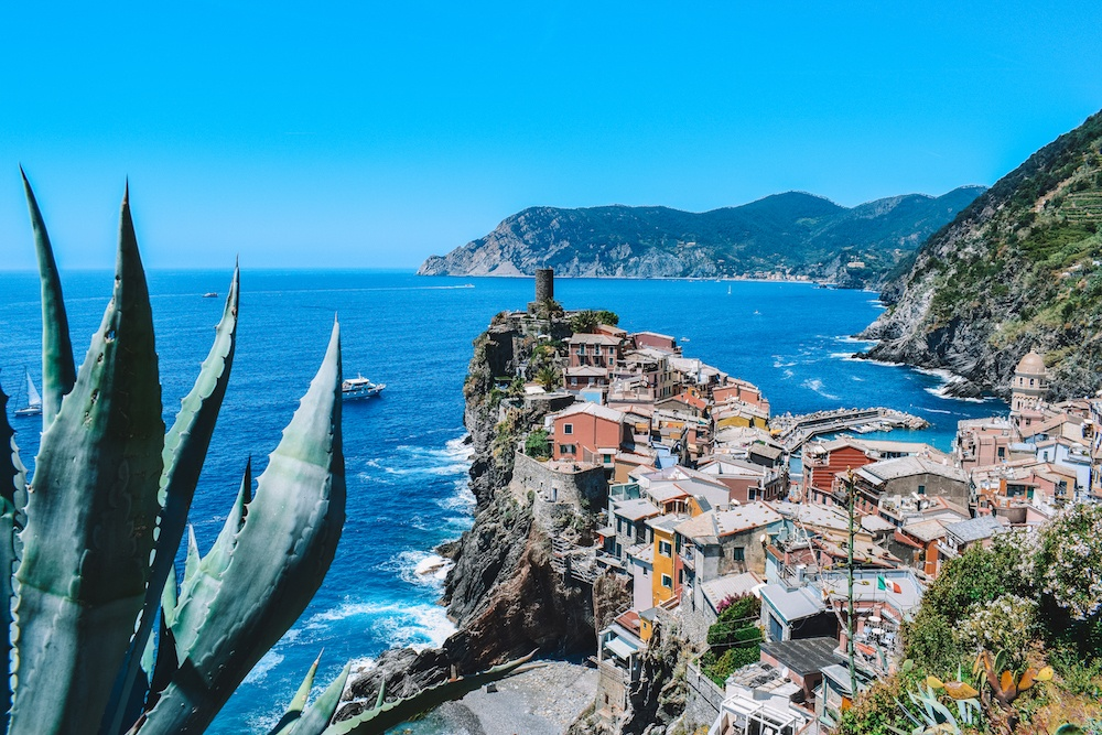 Vernazza, one of the main towns in Cinque Terre, Italy