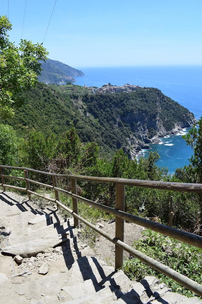 Hiking along the Sentiero Azzurro in Cinque Terre, Italy