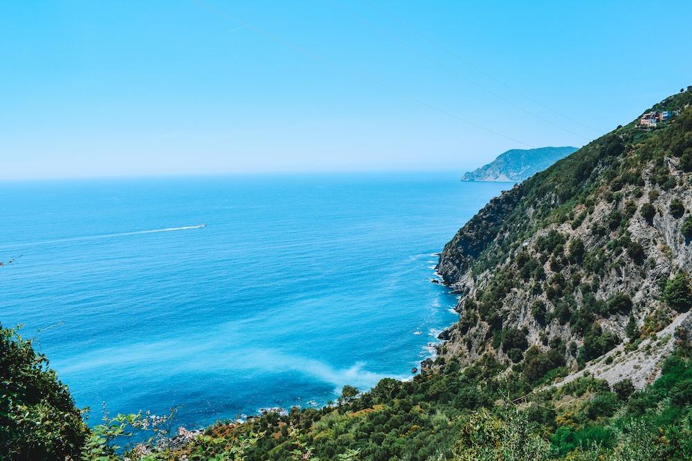 The beautiful coastline of Cinque Terre in Italy