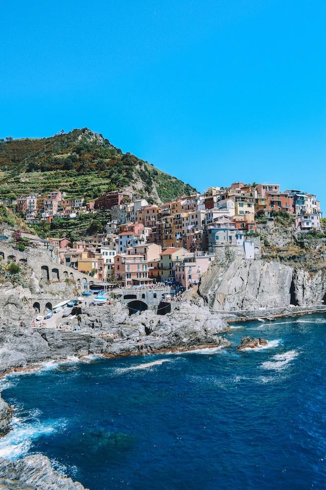 Manarola, one of the main towns along the Sentiero Azzurro in Cinque Terre