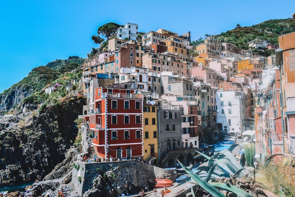 The colourful houses of Riomaggiore in Cinque Terre, Italy