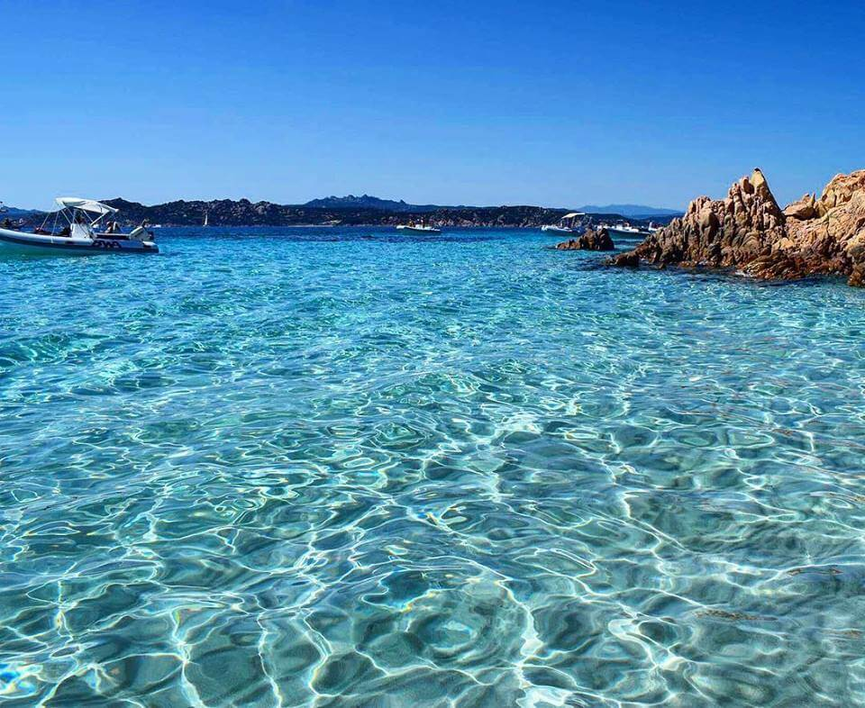 The crystal clear water of Cala Soraja, Spargi