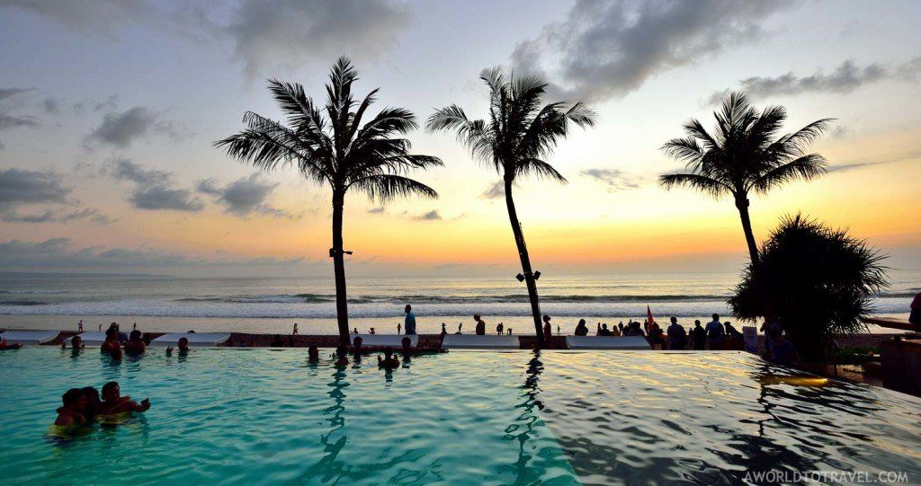 Sunset at the Potato Head Beach Club, shot by A World To Travel