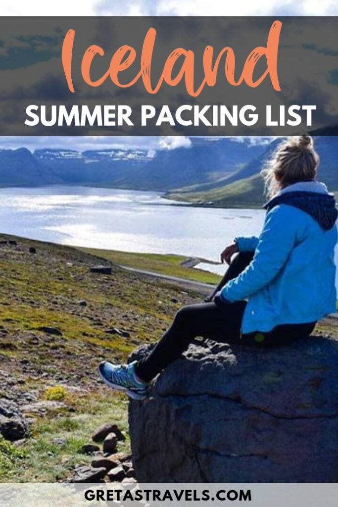 Planning a summer trip to Iceland? Find out what to pack with this detailed Iceland summer packing list. This list is based off what I packed for my own summer trip to Iceland. Get some inspiration and find out what is best to wear in Iceland in summer. #icelandsummerpackinglist #iceland #icelandinsummer #packinglist #icelandadvice #icelandtips #packingadvice #traveltips