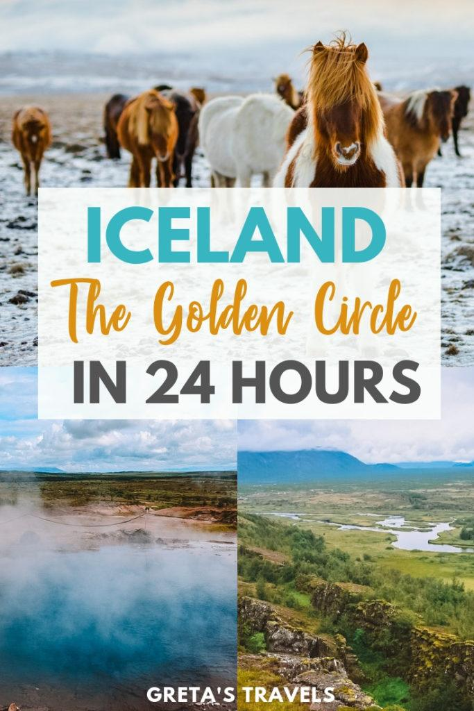With its waterfalls, geysers and epic landscapes the Golden Circle is one of the most famous and visited parts of Iceland. This map & guide covers all the main attractions and places you need to visit along Iceland's Golden Circle. So come discover everything you need to know about visiting the Golden Circle in Iceland. #iceland #goldencircle #europe #waterfall #geysir #nature #goldencirclemap #icelandtraveltips