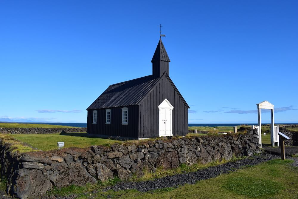 Budir church, one of the most famous in Iceland for it's solitary position on the beach in the Westfjords
